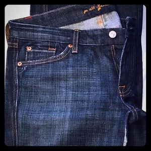 7 for all mankind dark rinse jeans Sz 31